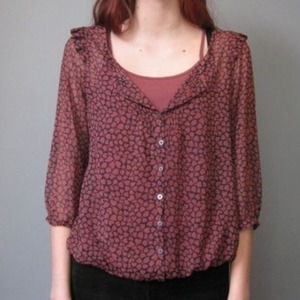 PINS & NEEDLES | NWT Button Down Heart Peasant XS
